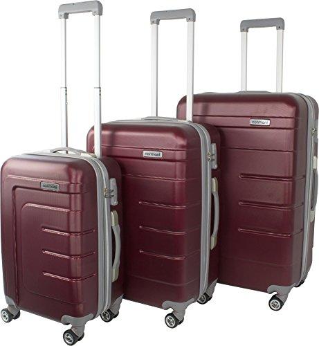 Hartschalen Kofferset New Generation mit TSA Zahlenschloss 3-tlg. Farbe Burgund/Grau