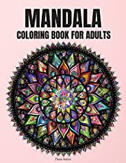 Mandala Coloring Book For Adults: Beautiful mandala coloring book for relaxation Adults mandalas design for st