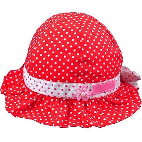 Ama-ZODE New Sweet mignon bébé filles enfants Motif à pois soleil d'été chapeaux de 4couleurs rouge