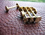 chengyida 10pcs (latón) soporte de cabeza larga botón, plateado, studs spike Screwback Spot Chicago tornillos uñas remaches para leathercraft DIY bols