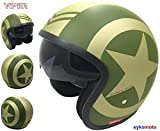Casque Ouvrir Viper RS-V06 Moto Urbain Retro Chopper Custom Bobber Tournée ECE...
