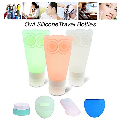 e019a4800e00 Silicone Travel Bottles Set PJYU Travel Tubes Containers Leakproof BPA Free  8 of Set