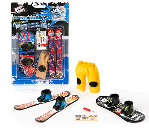 Grip & Tricks - Finger Snowboard Ski freestyle - Pack4 WINTER