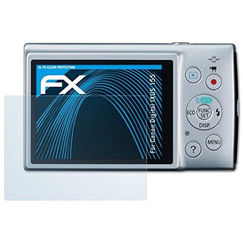 zfolie für Canon Digital IXUS 155 / PowerShot ELPH 150 IS Schutzfolie - 3 x FX-Clear kristallklare Folie (Canon Elph 150)