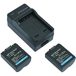 Mondpalast ® 2X 1200mAh 7.4V Remplacement Batterie CGA-S006 CGAS006 CGR-S006 CGR-S006E CGR-S006A + chargeur pour Panasonic Lumix DMC-FZ28 DMC-FZ50 FZ8 DMC-FZ7DMC-FZ18 DMC-FZ30 DMC-FZ35 DMC-FZ38 DMC-FZ50 DMC-FZ7 FZ8 FZ18 FZ28