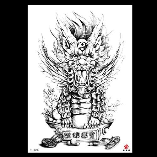 lihaohao Blume Arm Tattoo Aufkleber Grün Wasserdicht Geparden Tattoo Aufkleber Männer Und Frauen Blume Arm Temporäre Tattoo Aufkleber 14.8X21Cm 4 Blatt