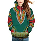 MIRRAY Herren DHerbst Winter African 3D Print Langarm Dashiki Hoodies Sweatshirt Top Kapuzenpullover