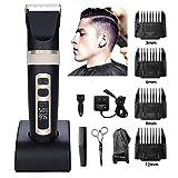 Tondeuse cheveux hommes Tondeuses à cheveux professionnelles pour hommes, de précision sans fil avec fonctions rechargeables tondeuses à cheveux, pour hommes, femmes, enfants, coiffeurs,stylistes