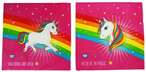 serviettes en papier licorne 33 33 cm d coration anniversaire licorne little licorne. Black Bedroom Furniture Sets. Home Design Ideas