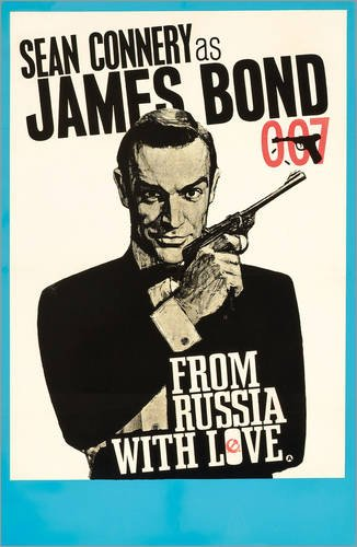 Posterlounge Alu Dibond 60 x 90 cm: James Bond Film 'from Russia with Love' von English School/Bridgeman Images