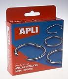 APLI 453 Boite de 20 anneaux métalliques diamètre 32mm