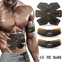 YUCEN Electroestimulador Muscular Abdominales Cinturón, Traje de Masajeador Eléctrico, EMS Estimulador Muscular para Hombre Mujer, Abdomen/Brazo/Piernas/Cintura, USB Recargable