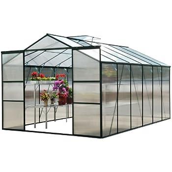 Homcom Outsunny® Alu Gewächshaus Treibhaus Frühbeet Tomatengewächshaus 6,25 m² - 9,28 m², 4 Größen 2 Typen NEU (M ohne Stahlfundament)