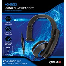 Gioteck - XH-50 Mono Chat Headset, Color Azul (PS4)