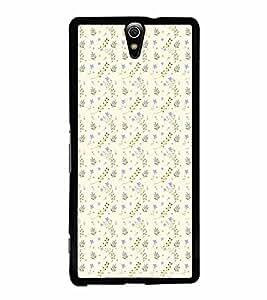 FABCASE Premium classicdesign designs flowerdesign floraldesign Printed Hard Plastic Back Case Cover for Sony Xperia C5 Ultra