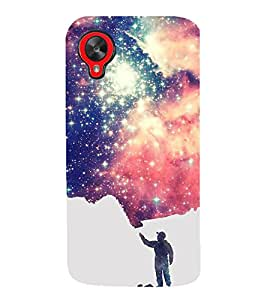 HiFi Designer Phone Back Case Cover LG Nexus 5 :: LG Google Nexus 5 :: Google Nexus 5 ( Paint Man Graffiti Art )