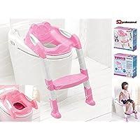 Bebé Potty Asiento con escalera de los niños de inodoro orinal silla fácil de montar plegar y guardar
