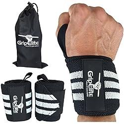 Protège-poignet musculation de haute-qualité - Bande poignet - Évite les blessures - Protection optimale hommes et femmes - Idéal fitness, crossfit, gymnastique - Wrist wrap taille unique