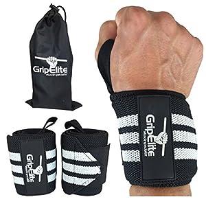 GripElite Muscle specialist Handgelenk Bandagen Bodybuilding – Sport Handgelenkschutz – Handgelenksschoner für Crossfit, Gymnastik, Gewichtheben – Wrist Wraps für optimalen Schutz des Handgelenks