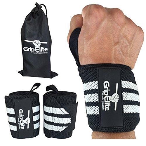 GripElite Muscle specialist Handgelenk Bandagen Bodybuilding - Sport Handgelenkschutz - Handgelenksschoner für Crossfit, Gymnastik, Gewichtheben - Wrist Wraps für optimalen Schutz des Handgelenks -