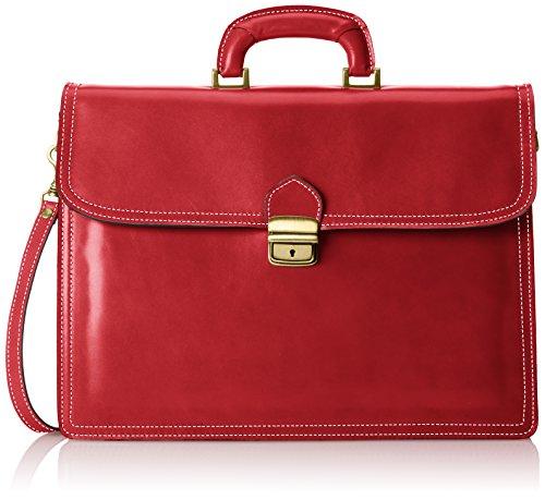 Borsa Organizer da Uomo, Valigetta Elegante, Portadocumenti, Vera Pelle 100% Made in Italy Rosso