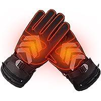 Invierno Climatizada guantes resistente al agua pantalla táctil guantes calentador de manos recargable alimentado por batería guantes para al aire libre montando motocicleta Esquí, color come with 2 x Battery, tamaño 11 x 4.7 inch(L X W)