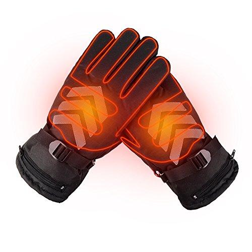 Winter Beheizte Handschuhe wasserdicht Touch Screen Handschuhe Handwärmer batteriebetrieben wiederaufladbar Handschuhe für Outdoor Reiten...