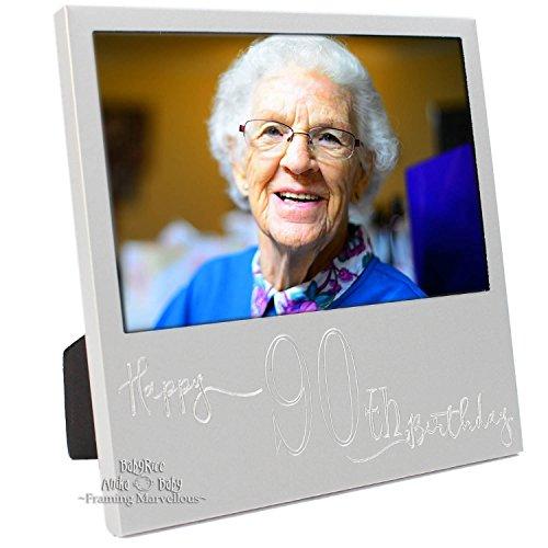 New Gravur Silber Bilderrahmen zum 90. Geburtstag Geschenk Party, Feier, Big Event, besonderen Anlass Bilder Erinnerungen Ideen Dekoration Familie von BabyRice
