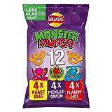 Walkers Monster Munch Variety Snacks, 22g (Pack of 12)