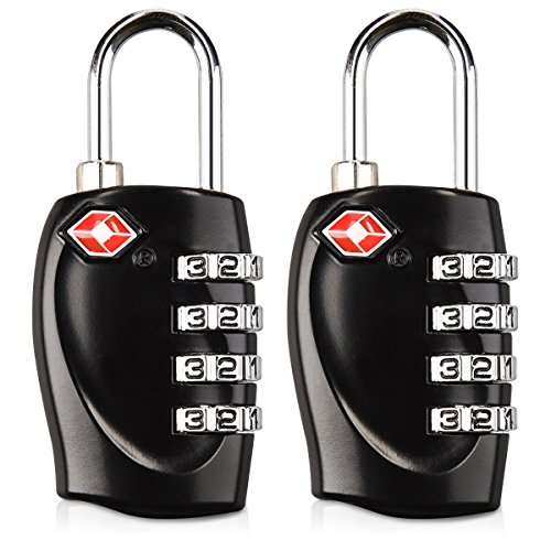 kwmobile 2 candados con Certificado TSA - 2X Candado de Seguridad con