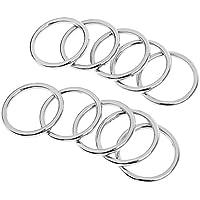 5er Set Ringe // Metallringe f/ür Schmuck Deko /& Basteln // silber // Metall // /Ø ca 22mm Knopfparadies