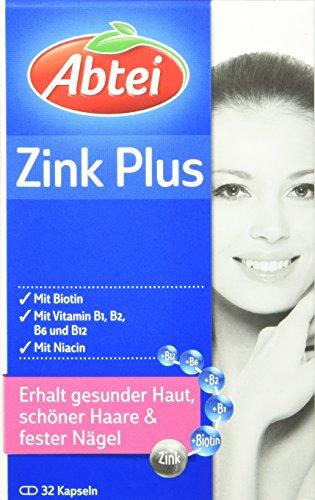 Abtei 3847932 Zink Nährstoff, 32 Kapseln (1 x 18g)