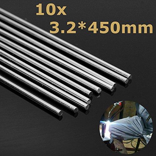 ExcLent 10pcs 450mm Aluminium Alloy Silber Schweißstöcke für Risse Polnisch & Farbe