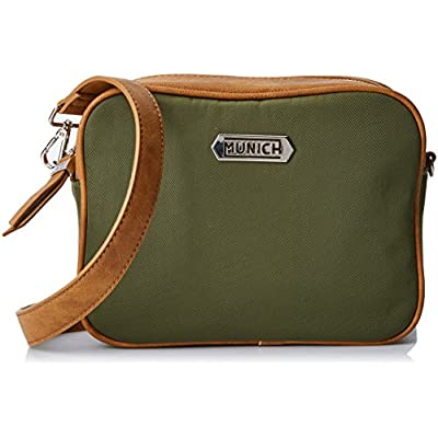 Munich Women's CROSSOVER FLASH SS18 KHAKI Cross-Body Bag Green Green (khaki) - bowling-handbags, fashion-bags