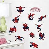 Dessin Animé Disney Marvel Spiderman Hero Stickers Muraux Chambre Pépinière Décor À La Maison 30 * 60 Cm Stickers Muraux Bricolage Art Mural Art Pvc Affiches