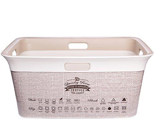 Mode-griff (Ondis24 Wäschetruhe Wäschekorb mit Belüftung Moda Textile 45 Liter mit 4 Griffen Wäschesammler)