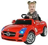 Kinder Elektroauto Mercedes Lizenziert SLS AMG Original Lizenz Kinderauto Kinderfahrzeug Elektro Spielzeug für Kinder (Rot)