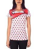 MEL Factory Hot Pois, Camiseta para Mujer, Bianco, Small