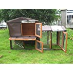 BUNNY BUSINESS The Grove Spearmint Double Decker Rabbit/ Guinea Pig Hutch and Run, and Cover 9