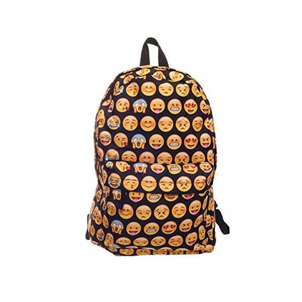 82daa9cab6 CAMTOA 3D QQ Emoji Zaino /Scuola Zaino/ Bambini Zaino/ School Bag ...