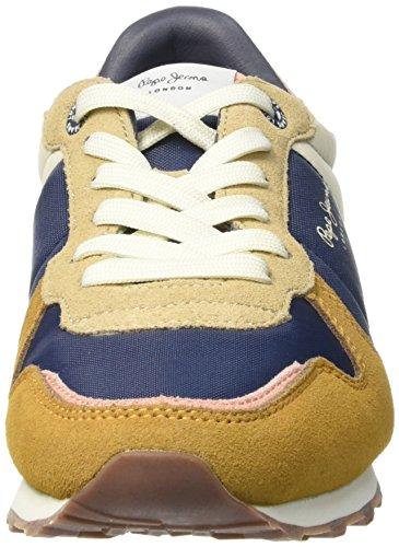 Pepe Jeans Verona Combi, Baskets Basses Femme Marron (855Camel)