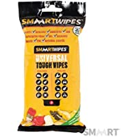Universal Tough Wipes 30pk 30pk Strip Bigger and tougher than regular wipes for shifting mess and spills around the home, workshop and garden. Easily removes paint, tar, ink, adhesives, PU foams, caulks, silicone, duct tape residue and pet mess. Strong degreasing action against grease and oil. Tough and flexible for harsh environments. Independently tested anti-bacterial action to BS EN 1276:2009. Gentle to skin - contains lanolin, aloe vera and vitamin E. Environmentally friendly.