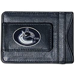 NHL Vancouver Canucks Genuine Leather Cash and Cardholder