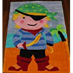 Kids Chinese Hand Carved Childrens Pirate Rug 70cmx110cm