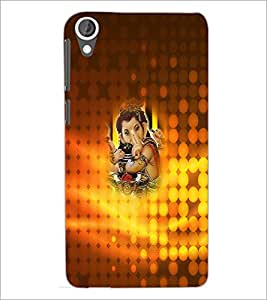 PrintDhaba Lord Ganesha D-4533 Back Case Cover for HTC DESIRE 820 (Multi-Coloured)
