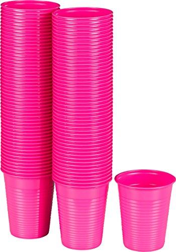 Kigima Einweg Trinkbecher Kunststoff pink, 100 Stk, 0,18 Liter