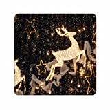 Made Personalize Modern Christmas Deer Soft Silicone Mousepads For Women