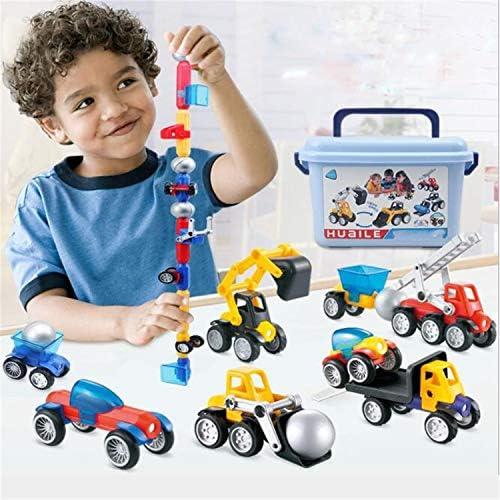 BABIFIS Educazione Magnetica Hands-on educativa per Bambini Engineering Car Car Car 3D Magnetic Blocks di Illuminazione Creativa Giocattoli Fai da Te 8884cb