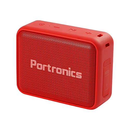 Portronics Dynamo Bluetooth 5.0 Portable Stereo Speaker with TWS, USB Music & FM Music and Clear Bass Sound, 5W, Red