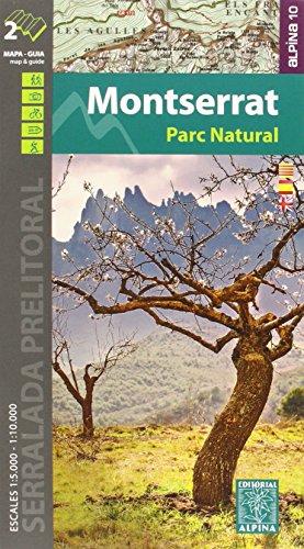 Montserrat Parc Natural, mapa y guía excursionistas. Escala 1:5.000/10.000 cast/cat/eng Alina Editorial por VV.AA.